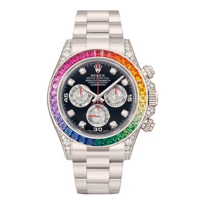 Часы Rolex White Gold Daytona Rainbow