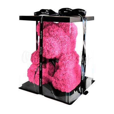 Розовый мишка из роз Oh My Teddy 40 см