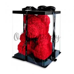 Красный мишка из роз Oh My Teddy 40 см