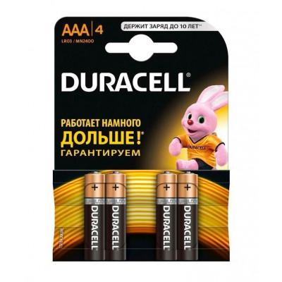 Батарейки DURACELL AAA 4 шт