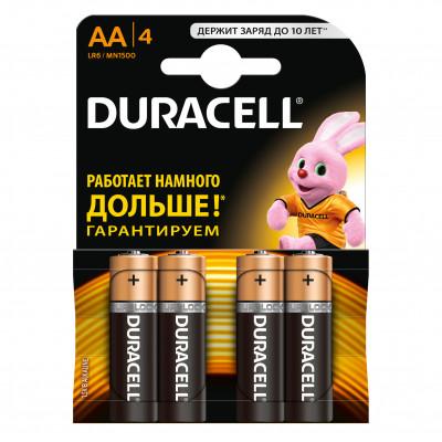 Батарейки DURACELL AA 4 шт