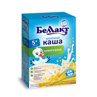 """Каша молочная кукурузная """"Беллакт"""" с 5 месяцев (200 г)"""