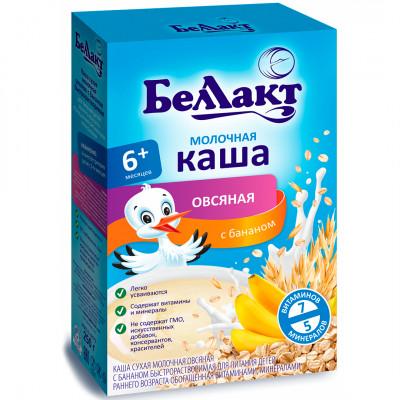 """Каша молочная овсяная с бананом """"Беллакт"""" с 6 месяцев (200 г)"""